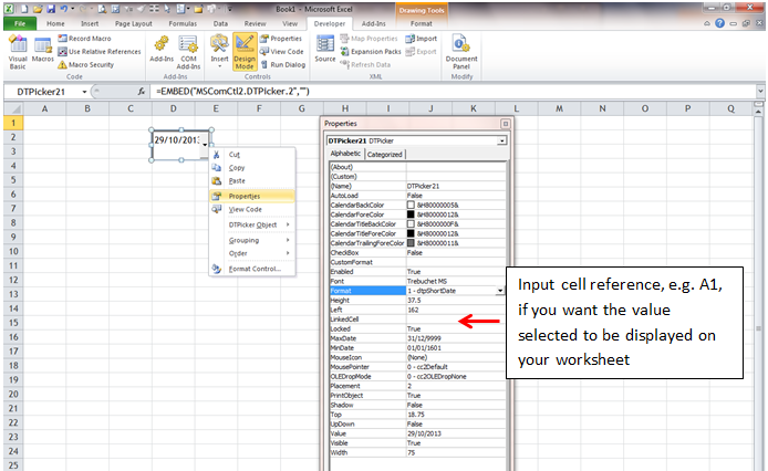 Dropdown Calendar In Excel Wmfexcel
