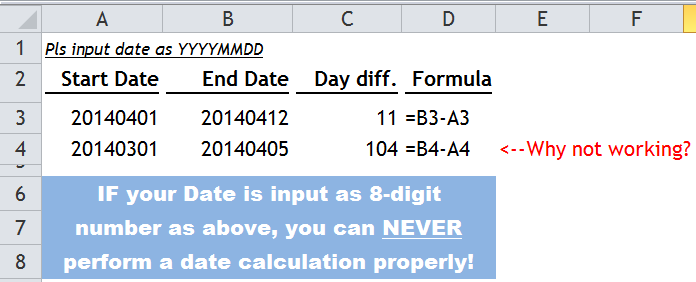 Convert an 8-digit number into Excel-recognizable Date | wmfexcel