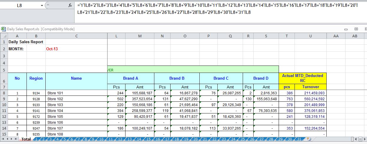 Excel worksheet formulas download
