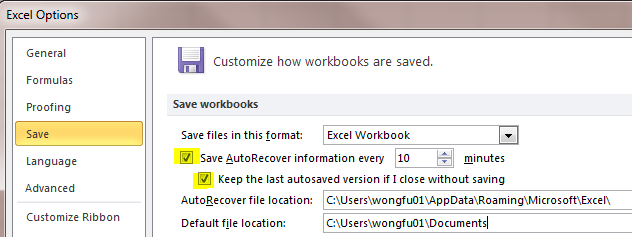 Excel Tips - Recover file not saved 3