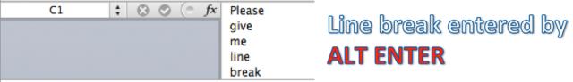 Excel Tips - Line break 2
