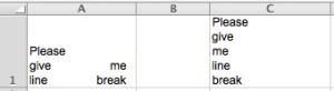 Excel Tips - Line break 3