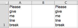 Excel Tips - Line Break
