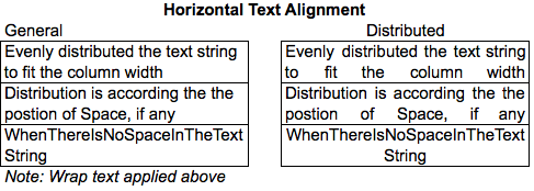 Excel Tips - Text Alignment Distributed  2