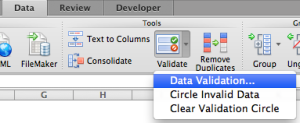Excel Tips - Data Validation Time 0.1