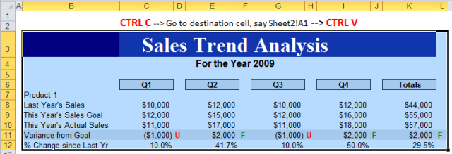 Excel Tips - Paste with Columns Width 1