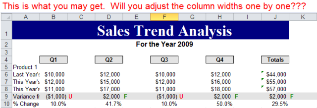 Excel Tips - Paste with Columns Width 2
