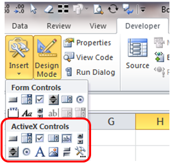 Excel Tips - ActiveX control not working