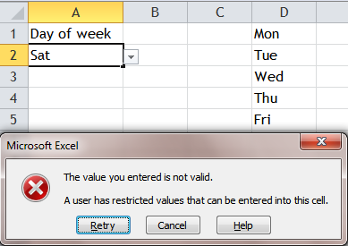 Excel Tips - Input anything in cell with list data validation 4