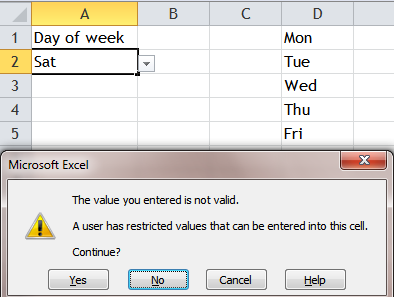 Excel Tips - Input anything in cell with list data validation 5