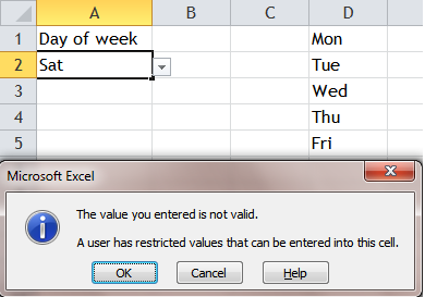 Excel Tips - Input anything in cell with list data validation 6