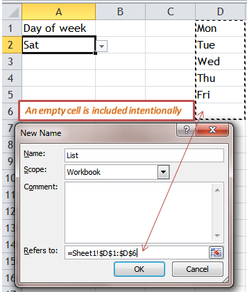 Excel Tips - Input anything in cell with list data validation 8