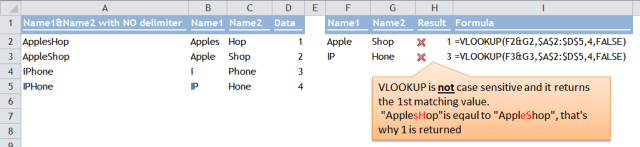 Excel Tips - Concatenate lookup values without delimiter