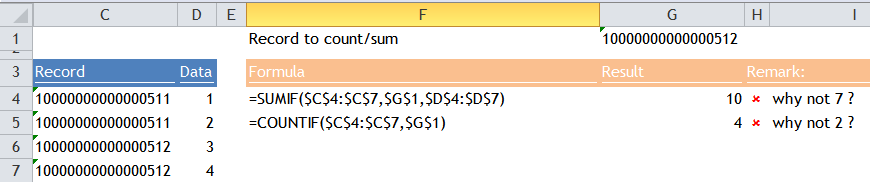 15-significant-digit issue with SUMIF(S), COUNTIF(S