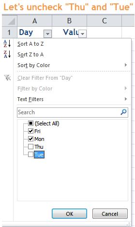 Excel Tips - Filter vs. Hidden 2