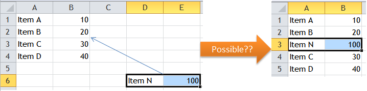 Excel Tips - Move cells with Shift Drag