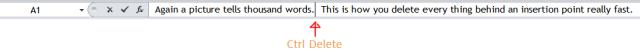 Excel Tips - Control Delete 1
