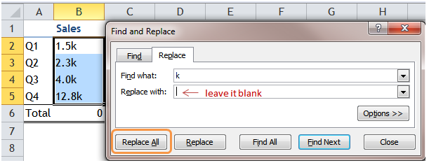 Excel Tip - Sum with Text 1