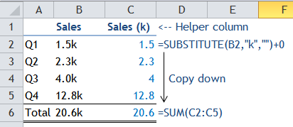 Excel Tip - Sum with Text 3.0