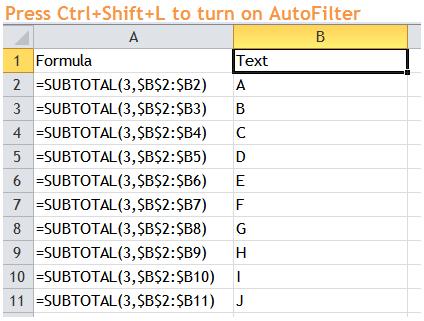 Excel Tips - Filter Bug