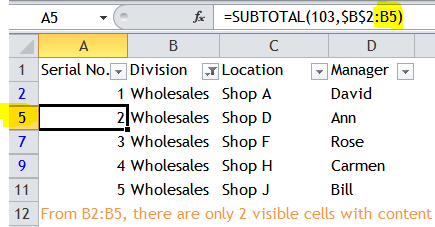 Excel Tips - Sequential number for visible rows only 3