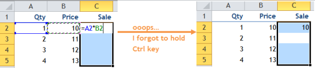 Excel Tips - Ctrl D to fill Down 1