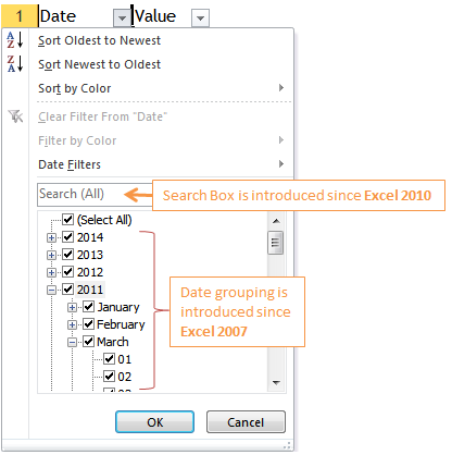 Excel Tips - To filter a particular date ignoring years 1
