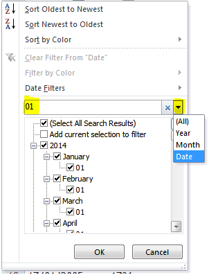 Excel Tips - To filter a particular date ignoring years 3