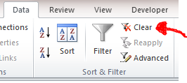 Excel Tips - Where is the filter icon 4