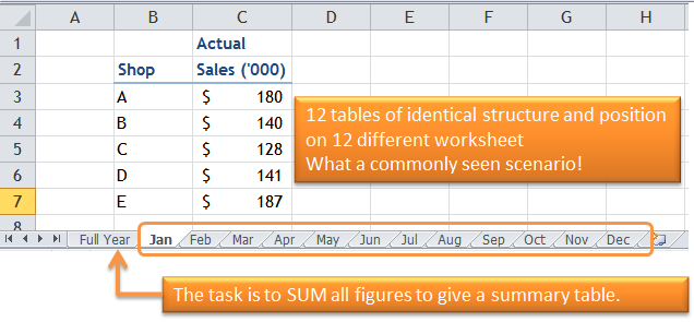Excel Tips - Using Wildcard in referencing cell on other sheets 1