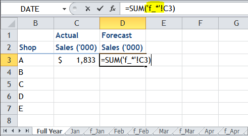 Excel Tips - Using Wildcard in referencing cell on other sheets 8