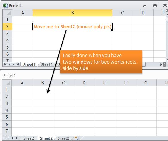 switch between worksheets excel mac