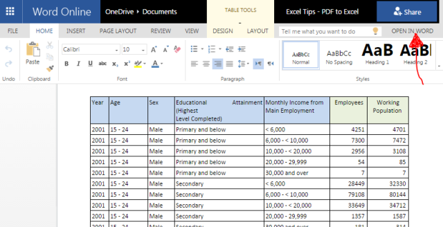 Excel Tips - PDF to Excel 9