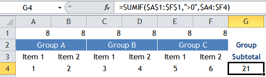 Excel Tips - SUM visible columns 2