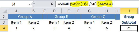 Excel Tips - SUM visible columns 5