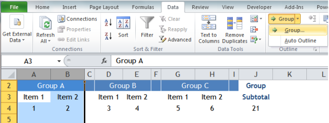 Excel Tips - SUM visible columns 6