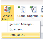 Excel Tip - Be careful with Data Table 1
