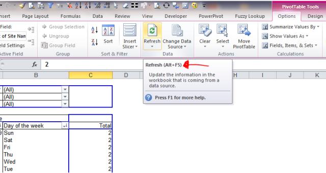 Excel Tip - Alt+F5