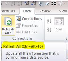 Excel Tip - Ctrl+Alt+F5