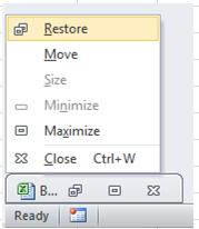 Excel Tip - F5 (restore window size)