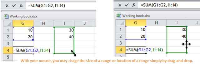 Excel Tips - F2 to drag and drop