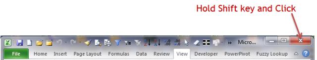 Excel Tips - F4 (Close Excel)1