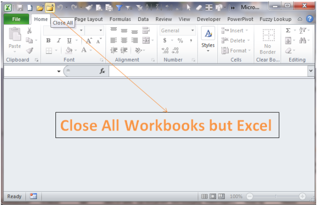 Excel Tips - F4 (close workbook)1