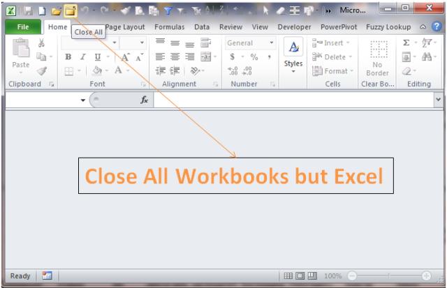 Excel Tips - F4 (close workbook)1