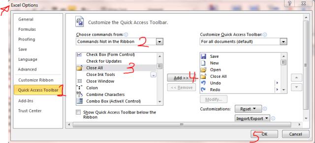 Excel Tips - F4 (Close workbooks)