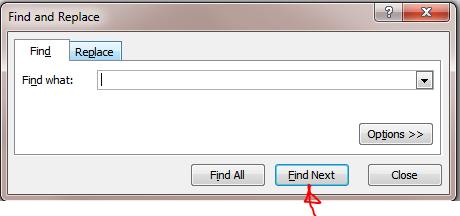 Excel Tips - F4 (Find next)0