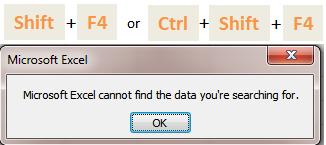 Excel Tips - F4 (Find next)1