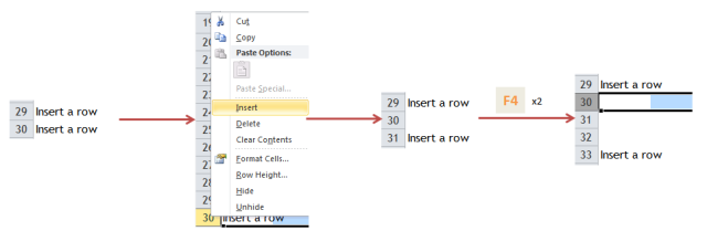 Excel Tips - F4 (repeat last action)1
