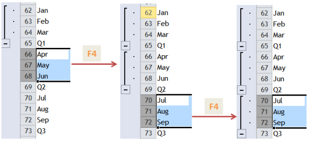 Excel Tips - F4 (repeat last action)3