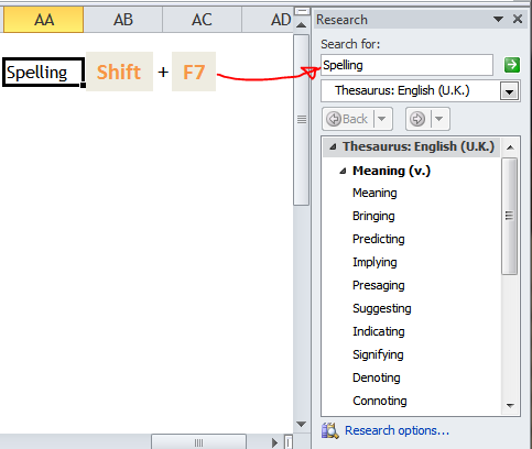 Excel Tips - Shift+F7